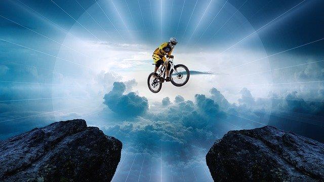 バイク,勇気,ジャンプ