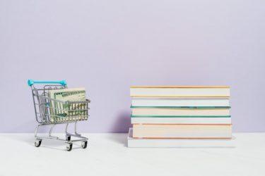 ショッピングカートと本